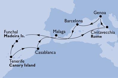 Spanien, Portugal, Marokko, Italien
